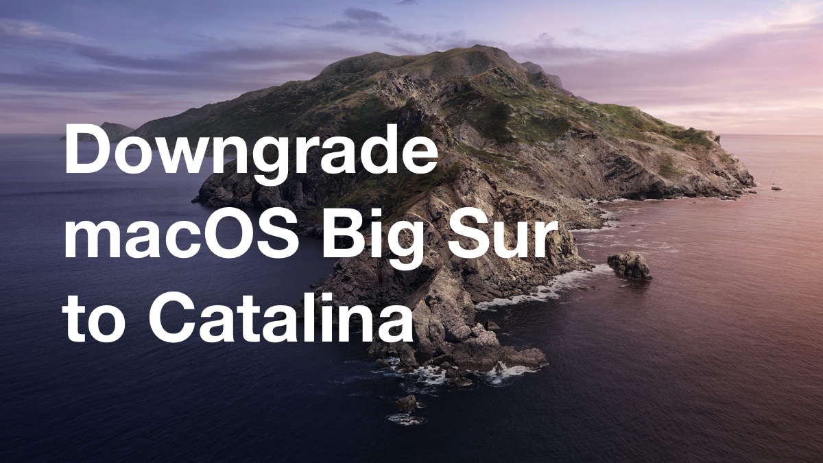Downgrade macOS Big Sur beta to Catalina