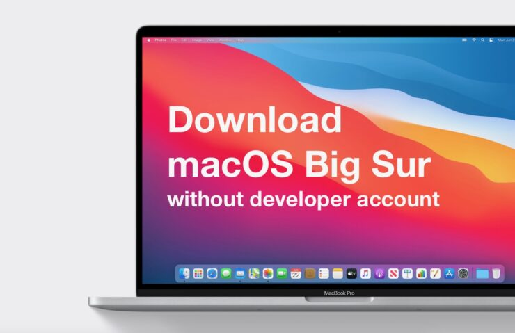 download big sur without dev account