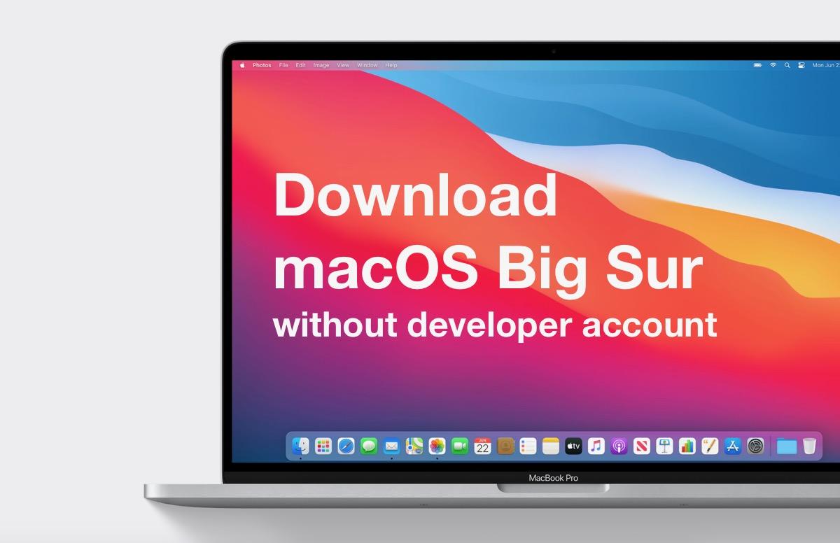 download big sur without dev account