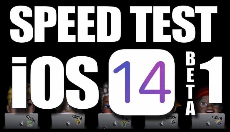 iOS 14 Beta Speed test