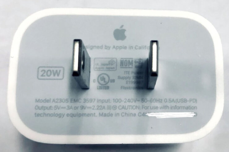 Fresh Images Show Apple Will Ship a 20W Charger With the iPhone 12