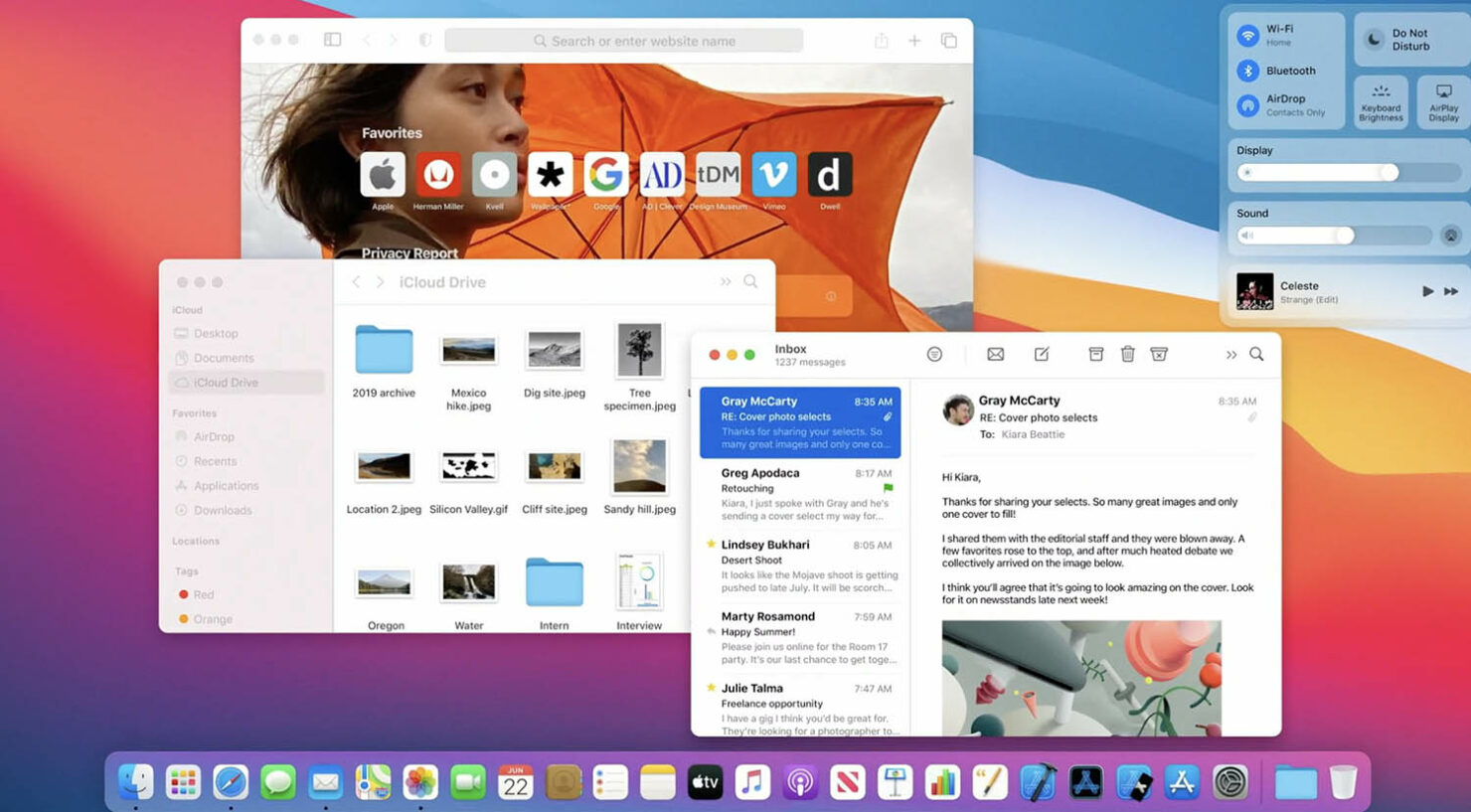 macOS Big Sur Official - New Dock Designs, Updated Widgets, Fresh Control Center and an Aesthetically Upgraded UI for Apps