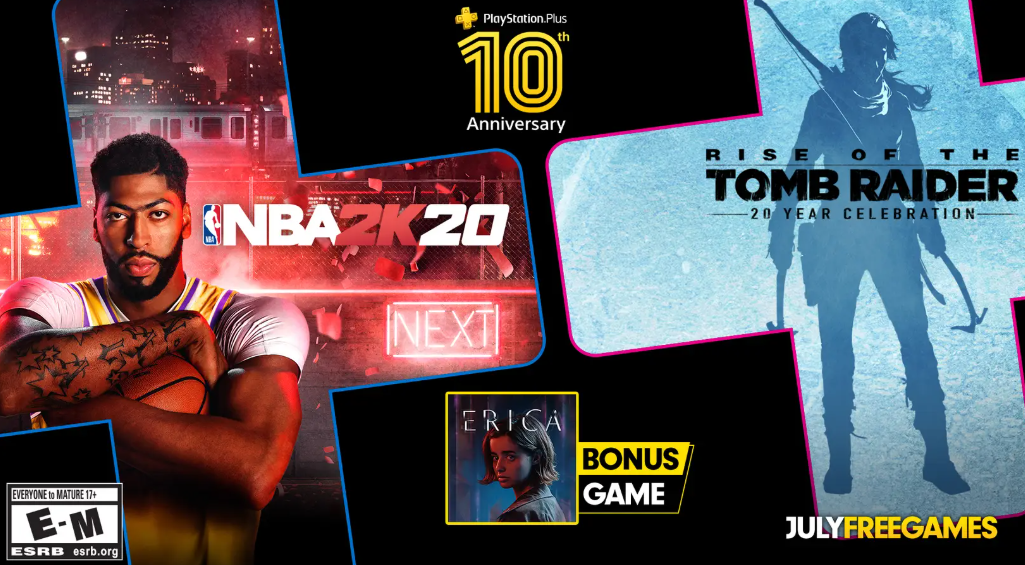 Ps Plus July 2020 Games Include Rise Of The Tomb Raider Nba 2k20