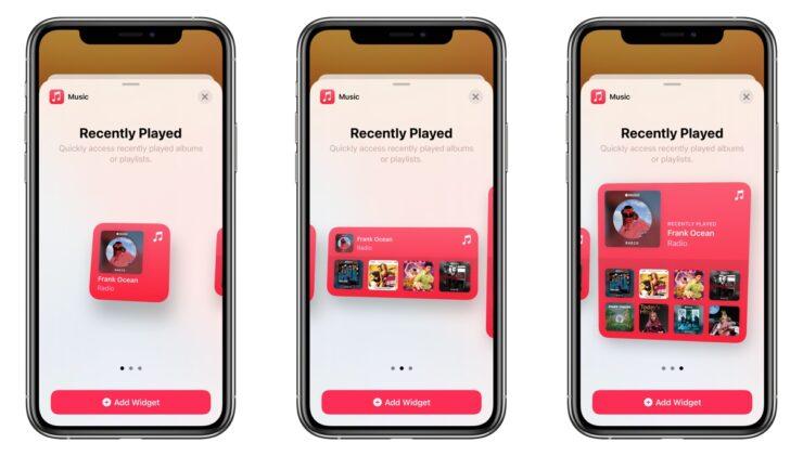 Apple Music red widget iOS 14
