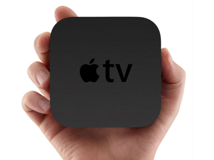 2020 Apple TV 6 in New White Finish, and Remote Featuring Its Own Display Shown in This Fresh Concept