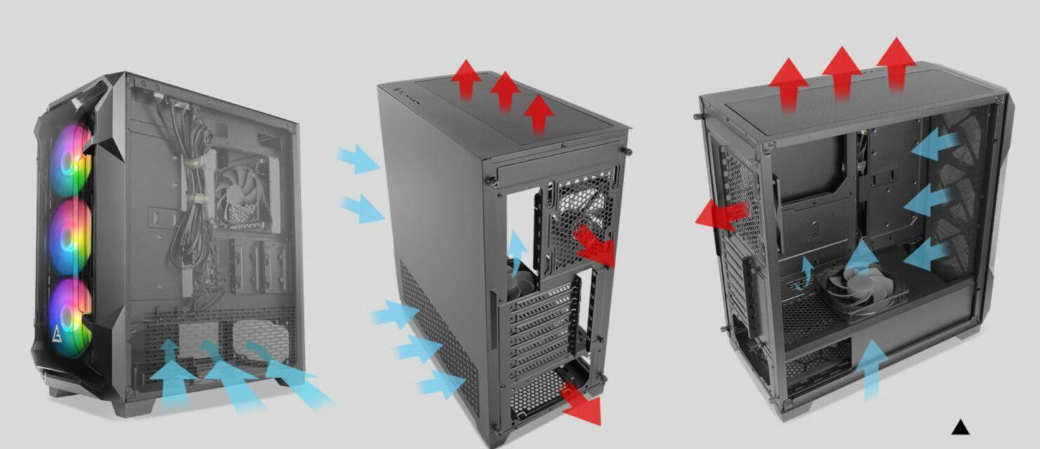 Antec lanza la funda para PC DF600 Flux 1