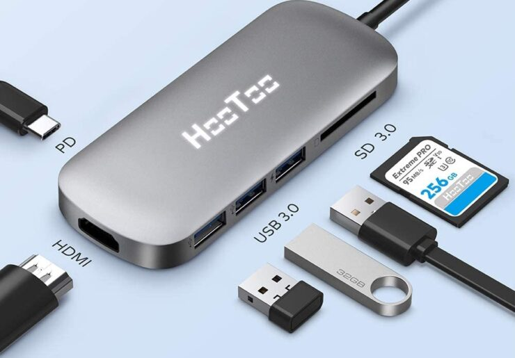 HooToo 6-in-1 USB-C adapter available for $16.99