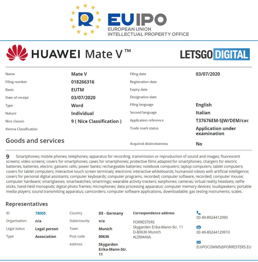 Huawei Mate V Foldable