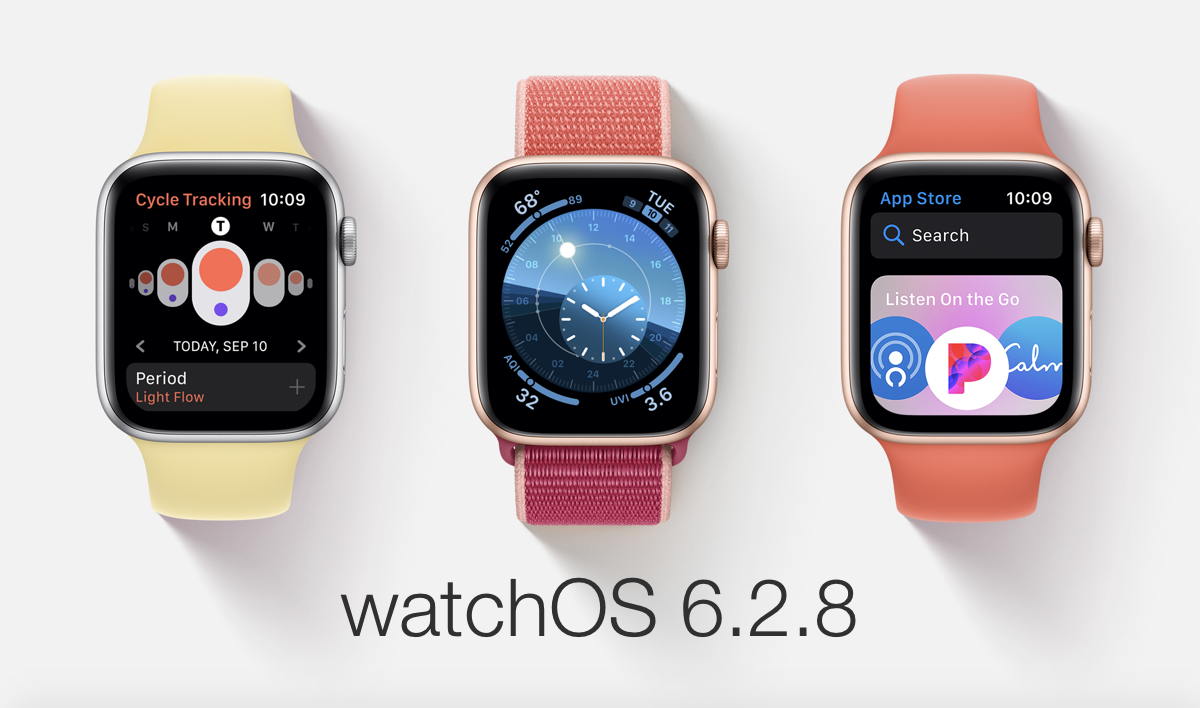 watchOS 6.2.9 now available for download