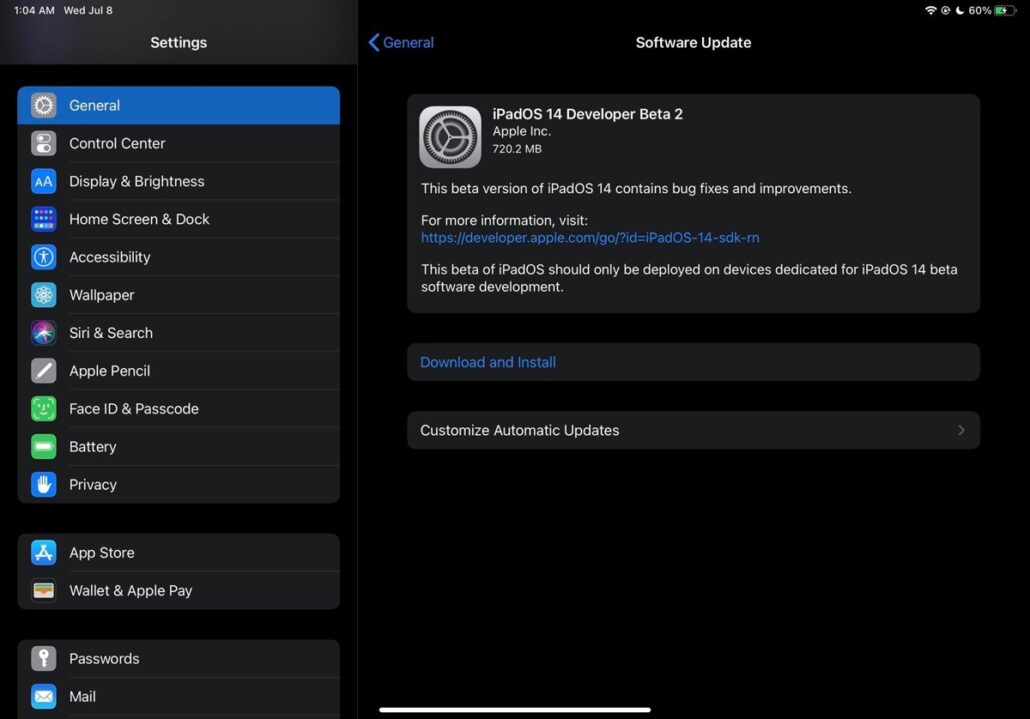 iOS 14 and iPadOS 14 beta 2 changelog