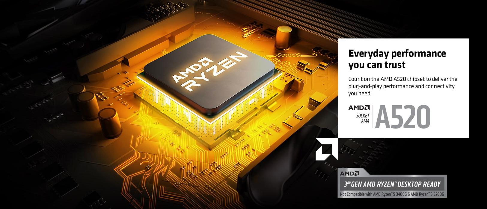 AMD Meluncurkan Entry-Level A520 Motherboards Untuk Next-Gen Ryzen CPUs & APUs