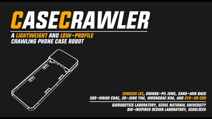 CaseCrawler Will Give Your Phone Legs So it Can Put Your Phone on Charge, Allowing You to Be Lazy
