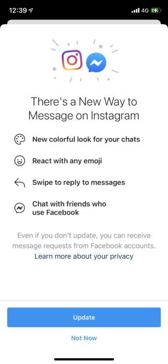 Instagram Facebook Messages