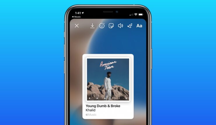 How to share Apple Music now playing track to Instagram Story