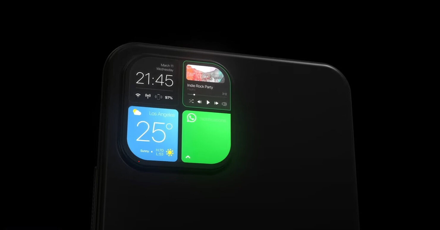 The iPhone's Camera System at the Back Can Be Used as a Secondary Display and a Notifications Hub in the Latest Concept