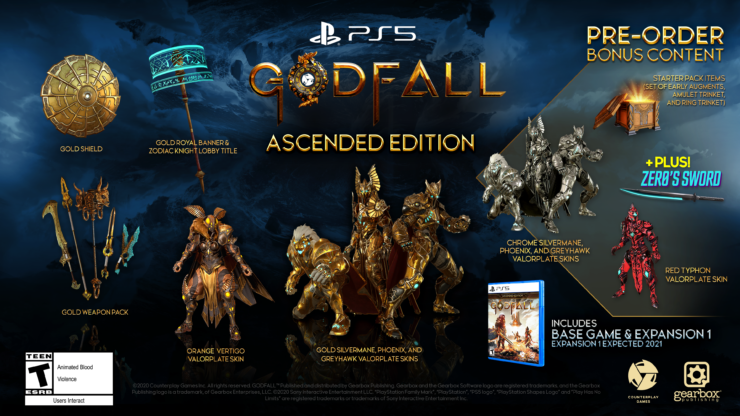 PlayStation 5 Console-Exclusive Godfall Reveals $90 Ascended Edition, Borderlands Crossover DLC - Wccftech