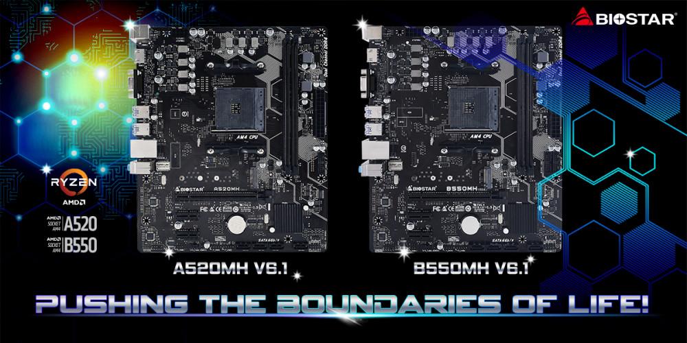 BIOSTAR Mengungkapkan Entry-Level A520MH V6.1 & B550MH V6.1 Motherboards Untuk AMD Ryzen CPU