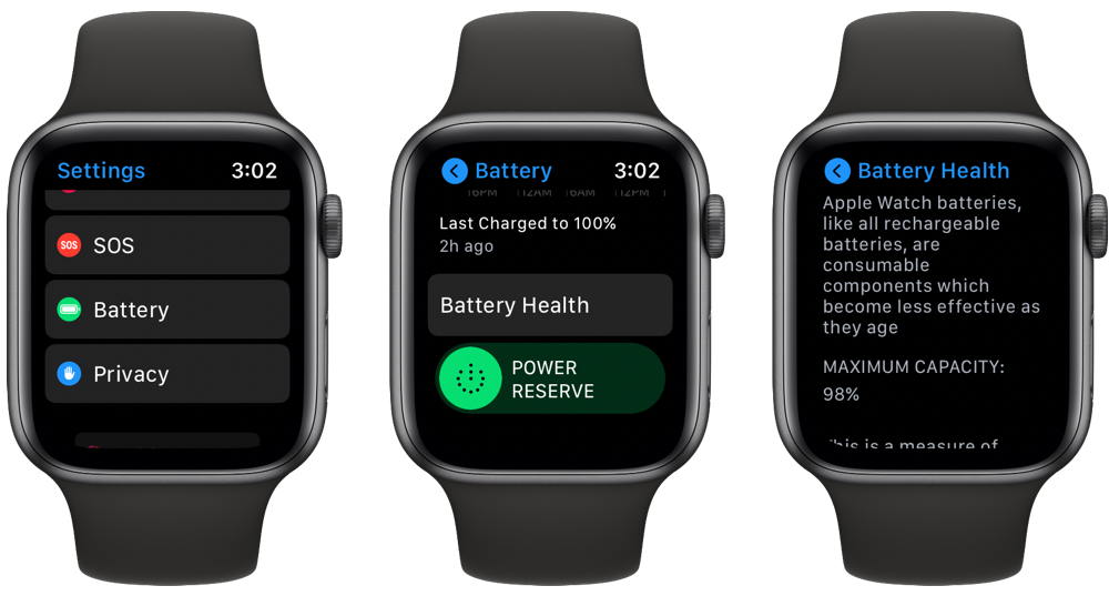 Find out Apple Watch Battery Health in watchOS 7