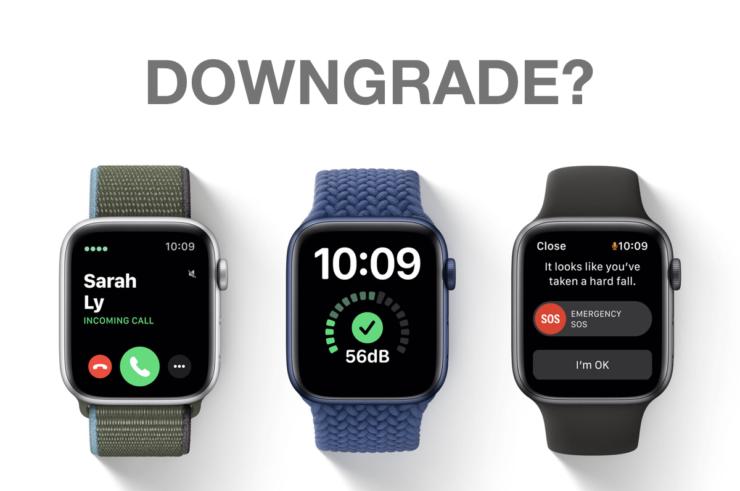 Downgrade watchOS 7