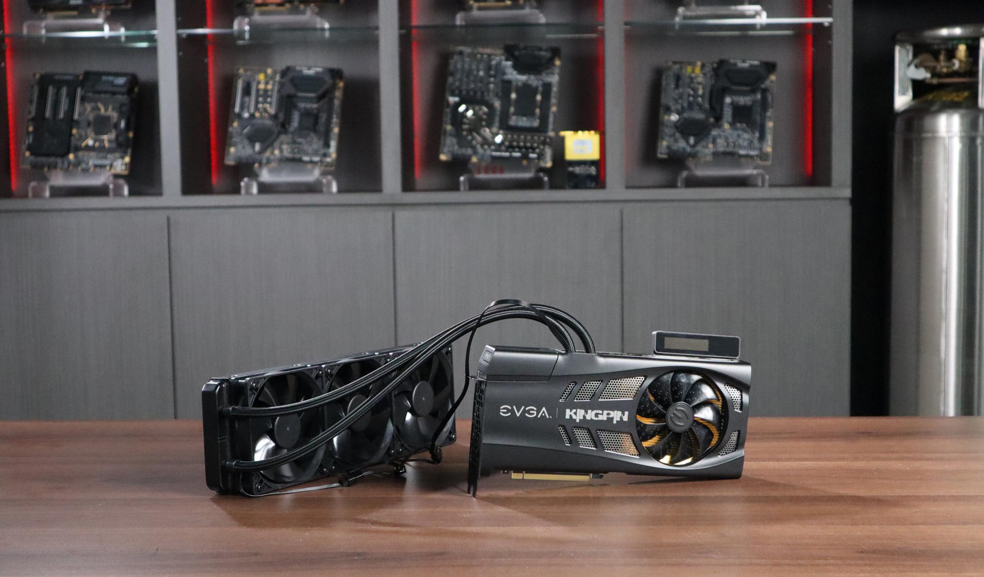 EVGA GeForce RTX 3090 KINGPIN Hybrid Graphics Card Pictured, Menampilkan 360mm AIO Liquid Cooler
