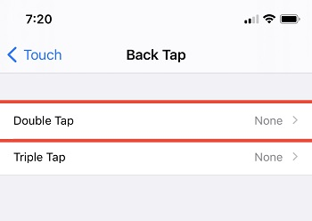 Enable Back Tap Gesture on iOS 14