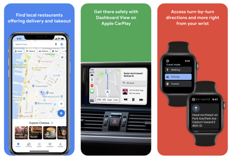 Google Maps arrives on Apple Watch once again