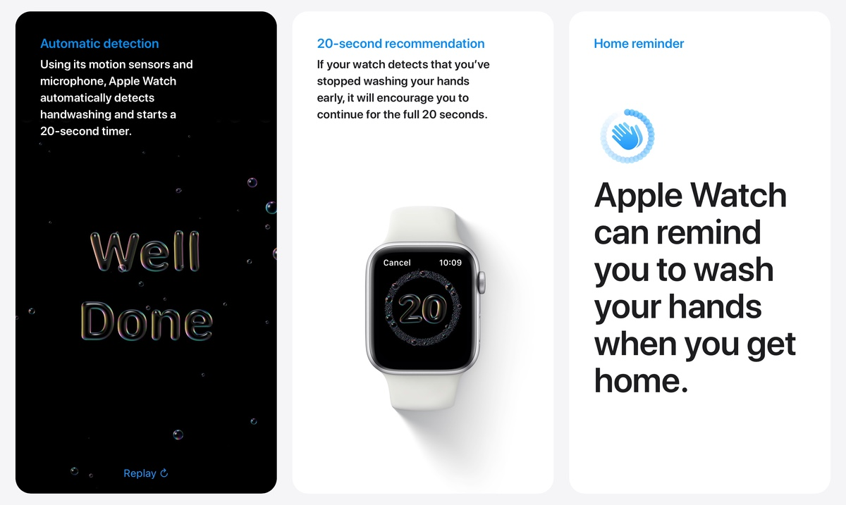 Enable automatic Handwashing Timer feature in Apple Watch running watchOS 7