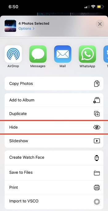 Hide Photos in iOS 14