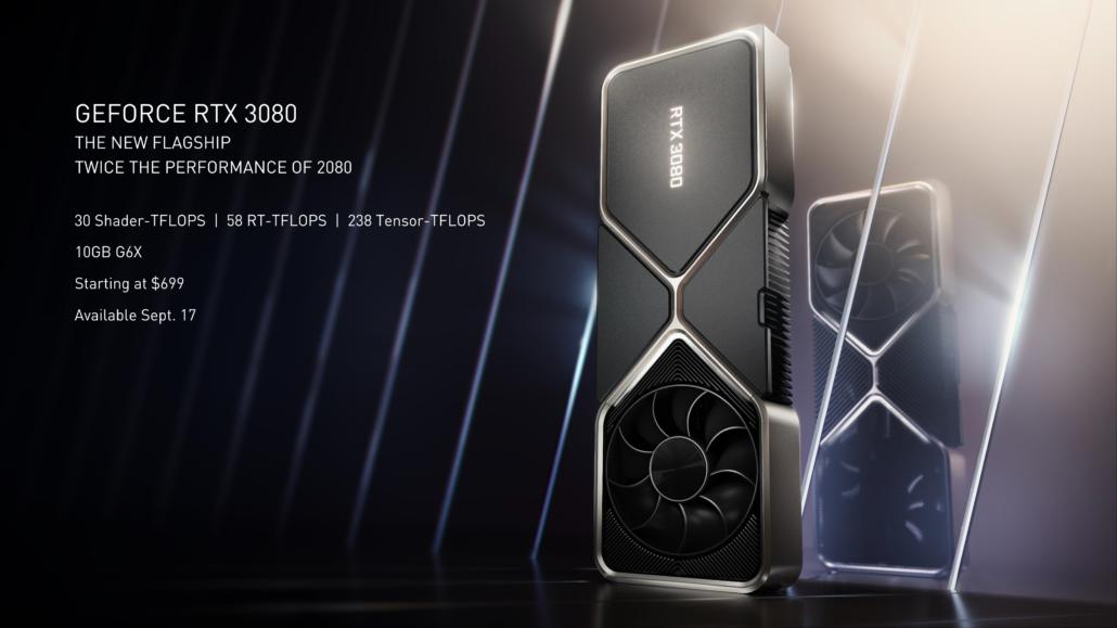 NVIDIA GeForce RTX 3080 ofrece hasta 100 FPS a 4K en varios títulos de juegos AAA con calidad máxima y RTX activado 1