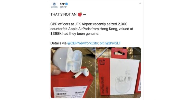 OnePlus Buds counterfeit AirPods
