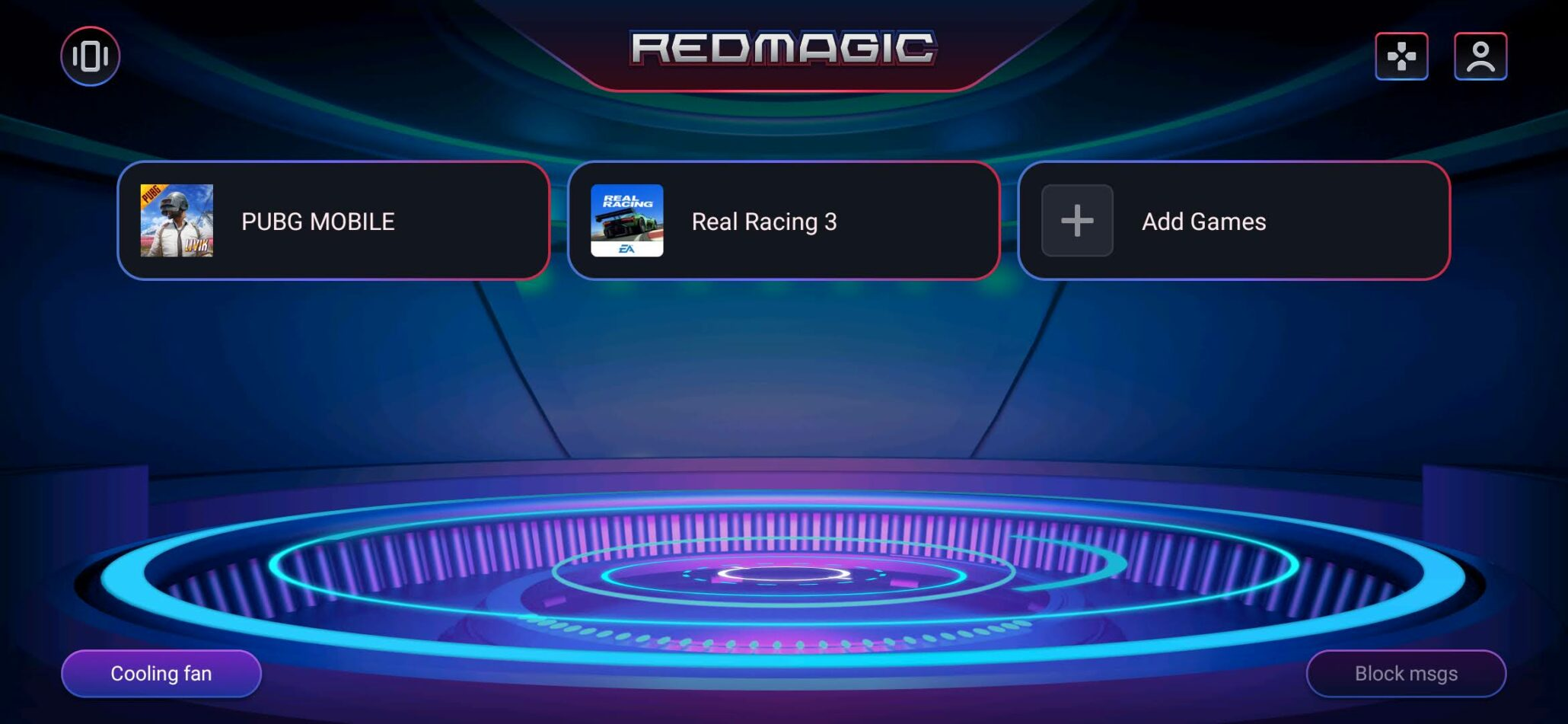 Red Magic 5S Game Space