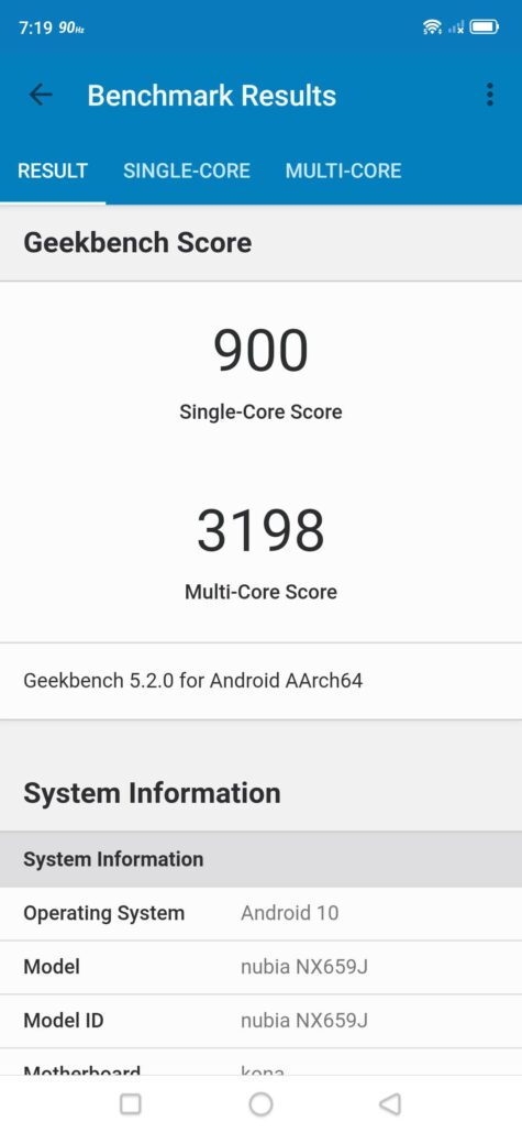 Red Magic 5S Geekbench Benchmarks