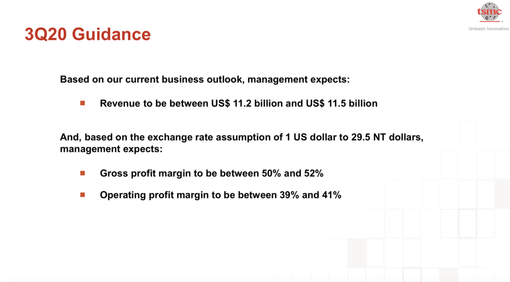 TSMC earnings guidance