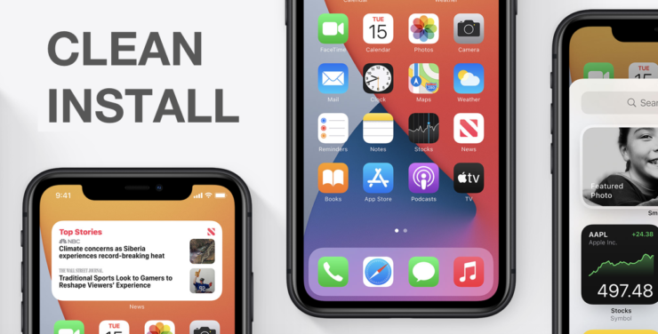 You can clean install iOS 14 / iPadOS 14 on your iPhone and iPad