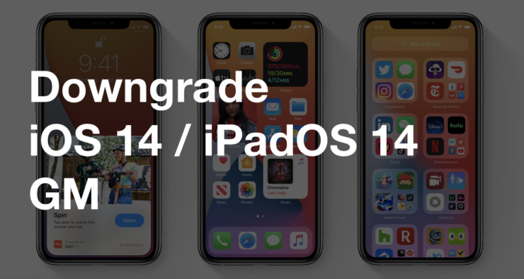 You can downgrade iOS 14 GM or iPadOS 14 GM back to iOS 13, iPadOS 13