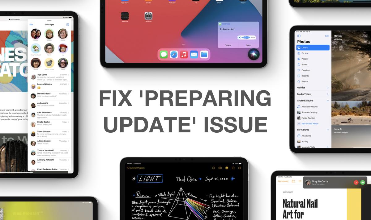 How To Fix Ios 14 Ipados 14 Stuck On Preparing Update Issue Tutorial