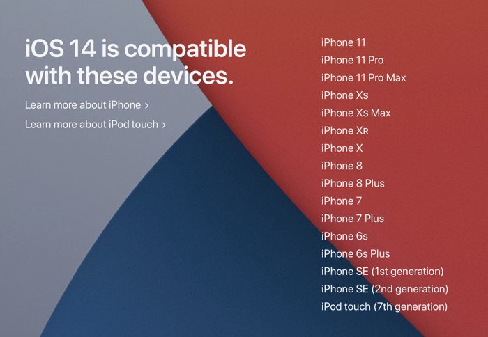 iOS 14 compatible devices