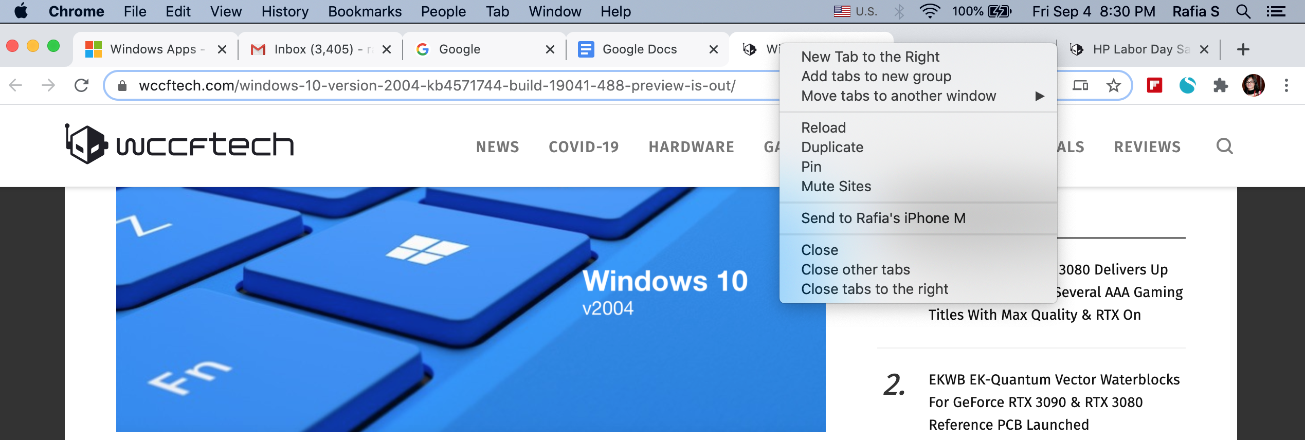 move chrome tabs macos