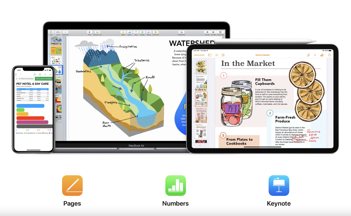 Pages, Numbers and Keynote apps updated for iOS 14 and iPadOS 14