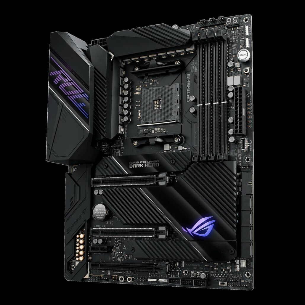 ASUS ROG Crosshair VIII DARK Hero Motherboard For AMD Ryzen 5000 Zen 3 Desktop CPUs