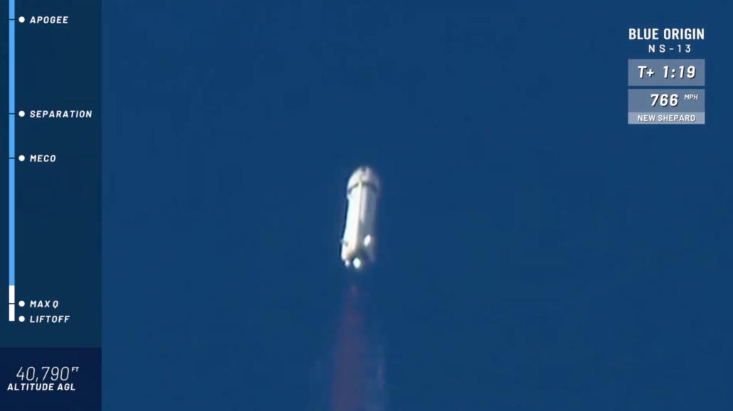 New Shepard NS-13 launch