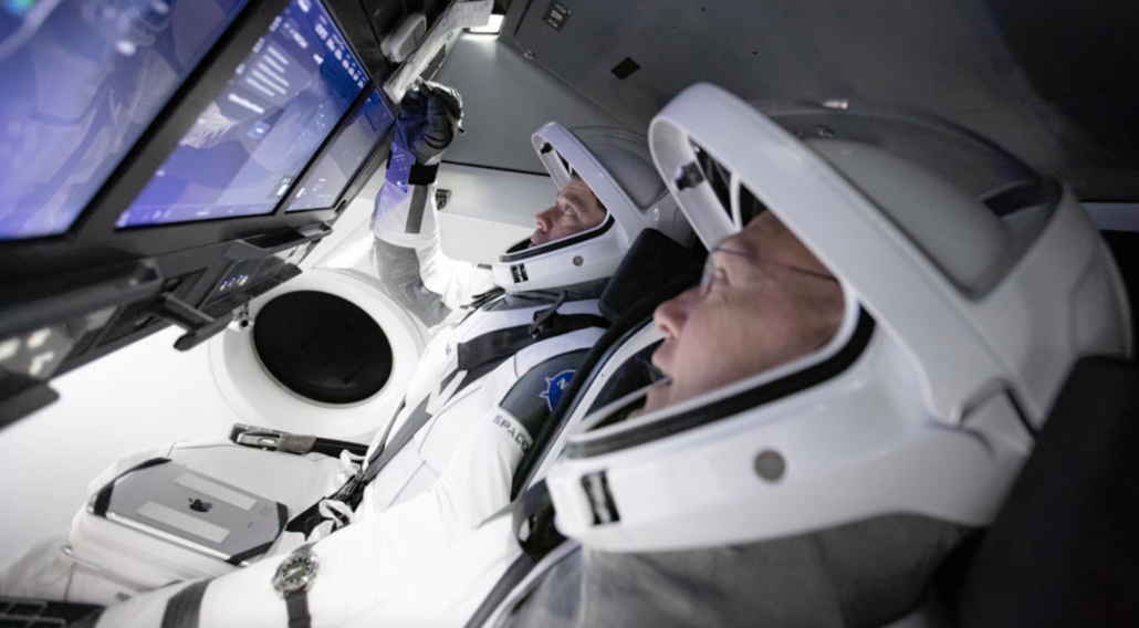 SpaceX Crew Dragon simulator