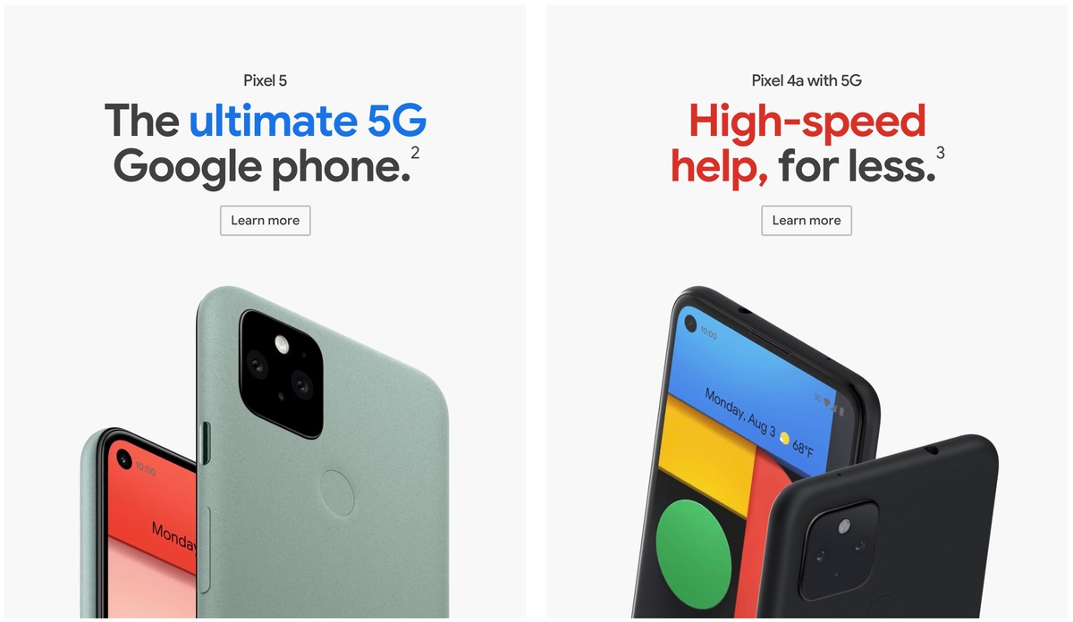 Google Pixel 4a 5G and Pixel 5 are not dual-SIM smartphones