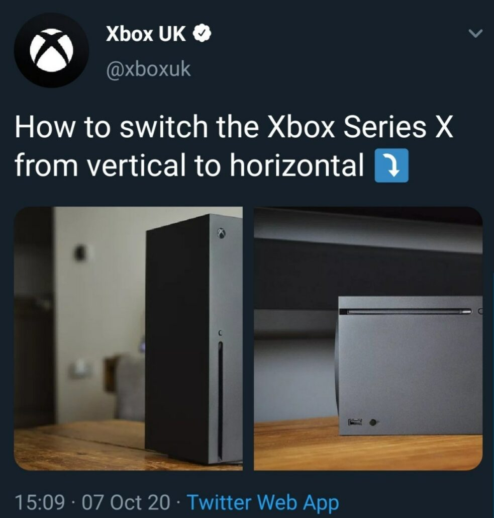 Updated Xbox Responds To Ps5 Teardown Video Mocking Instructions On How To Place The Console Horizontally