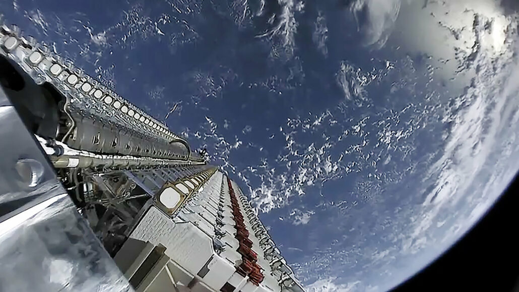 Starlink satellites in space