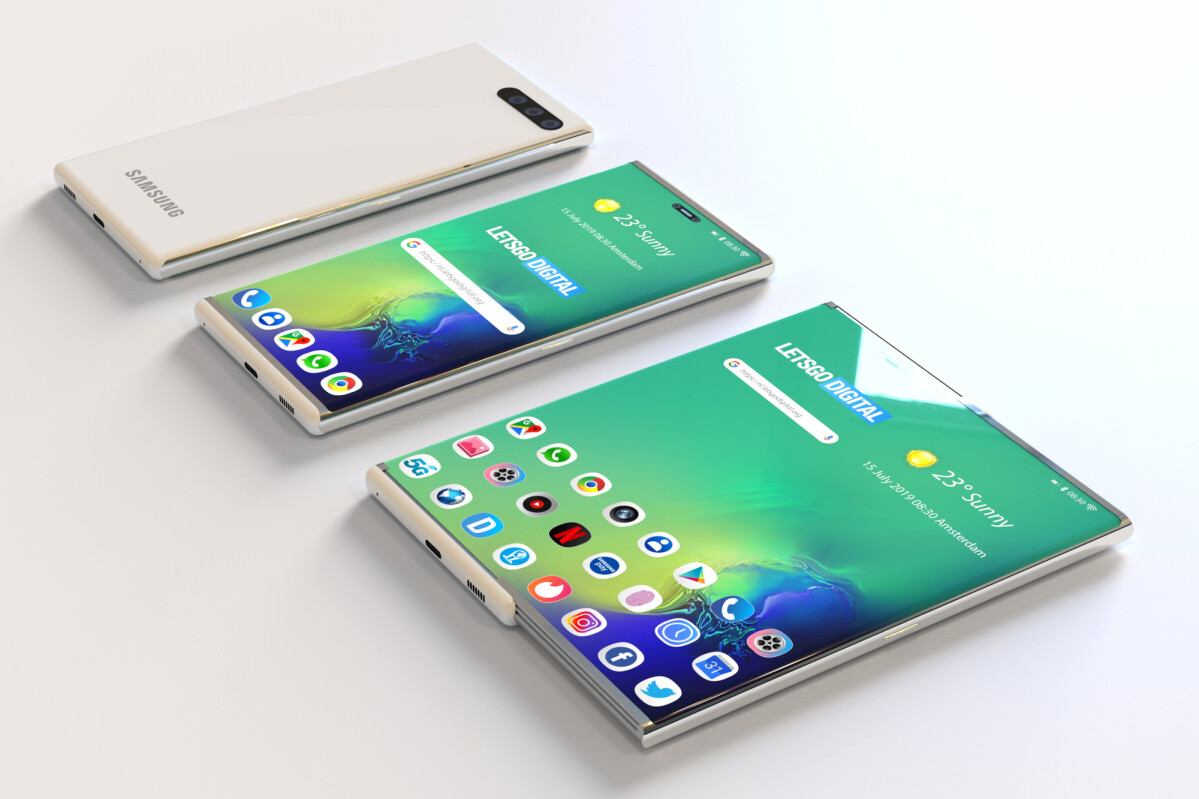 Samsung's First Rollable Smartphone Rumored to Arrive in 2021, Following the Small Success of Foldable Handsets