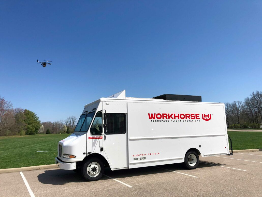 WORKHORSE DELIVERY VAN DRONE