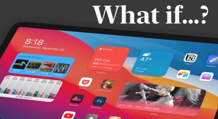 iOS Widgets on iPad Home Screen
