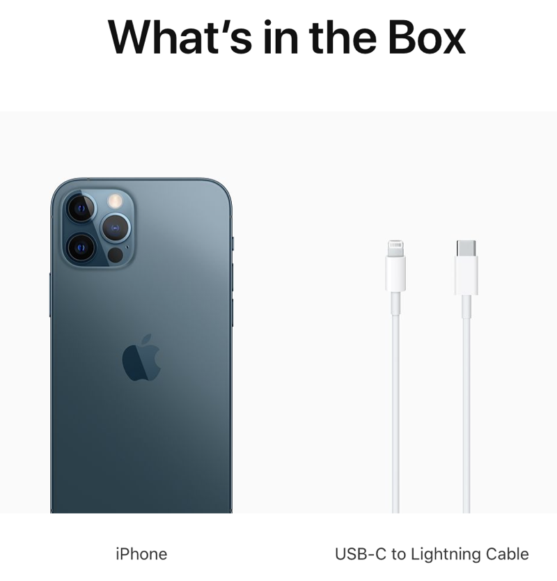 Apple Iphone 12 Mini And Iphone 12 Pro Max Retail Contents