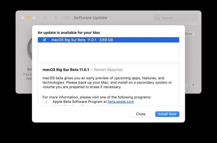 macOS Big Sur 11.0.1